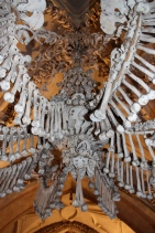 This chandelier has all of the human bones in it.