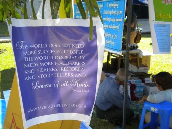 sign outside the festival